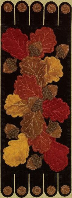 "I have a ""thing"" for Fall table runners - and this one is gorgeous!"
