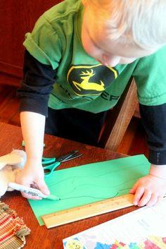 Preschool Craft: Shamrocks for St. Patrick's Day