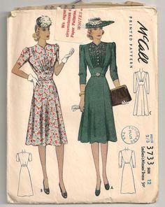 1930s McCall day dress pattern