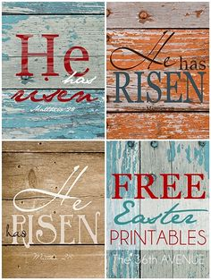He Has Risen Printables. #Easter