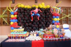 Spider-Man party ideas with a great table!