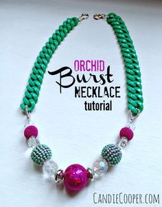 Jewelry Making: Orchid Burst Necklace Tutorial from Candie Cooper
