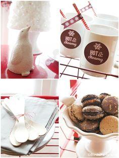 #hotcocoa #barcart #styling #howto #partyideas #Christmas #bar #cart #station #cocoa