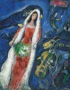 """Mariee"" by Marc Chagall"