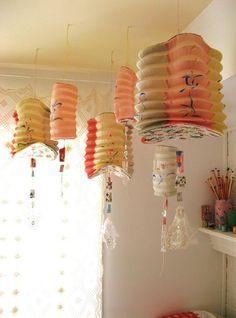 Pink and Yellow Chinese Lanterns,