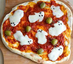 #Halloween Ghost Pizza