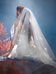 Disney Fairy Tale Weddings by #AlfredAngelo Veil 108 #Ariel