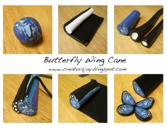 Butterfly Wing - polymer clay