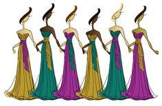 bridesmaids, dress color, bridesmaid dresses, multi color, colors