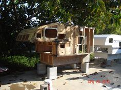 """How To Build Your Own Homemade DIY Truck Camper RV -   Follow the K.I.S.S principle, and you could possibly do it for a few hundred bucks or less! Article explains how you can easily do away with a lot of the unnecessary """"modern conveniences"""" and successfully boondock full-time off the grid in your little truck camper without any hookups or camp fees."""