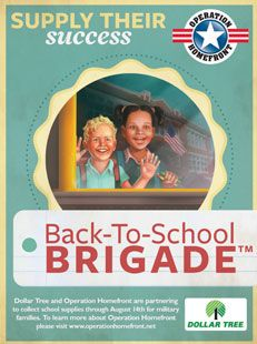 Operation Homefront Poster - Back-To-School Brigade