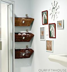 Couches and Cupcakes: Inspiration: Small Bathroom Storage Ideas