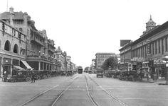 Weber Avenue 1910's looking East from El Dorado - Stockton, California