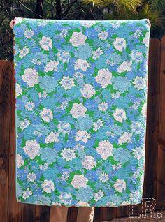 vintage sheet quilt back.