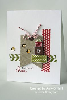 Be of Good Cheer card by Amy O'Neill #christmascard
