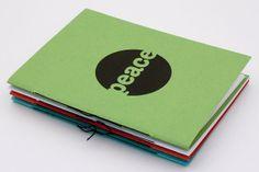 Peace Blank Notebook by birddoodle on Etsy, $4.00