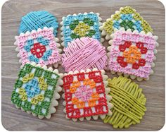 How to make granny square cookies