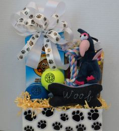 Dog Gone It! Gift Basket For Small Breed Dogs has toy that are just the right side for the little guys
