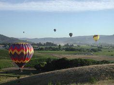 Balloon ride over Napa Valley