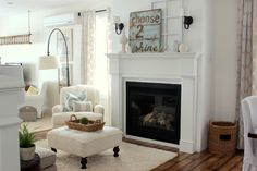 Beautiful living room - you won't believe the transformations in this home. Gorgeous!