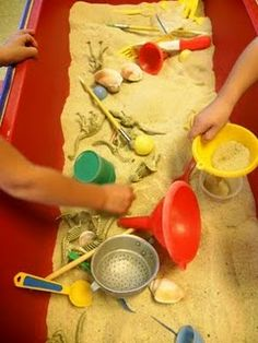 Use a dino dig sensory bin for a hands-on, multi-sensory experience in elementary archaeology.