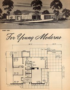 For Young Moderns: 1961 | Flickr - Photo Sharing! 3 Bed, 2 Bath, Carport, Pool.