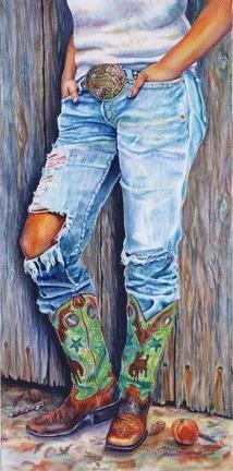 Western Watercolor Paintings by Sharon Markwardt