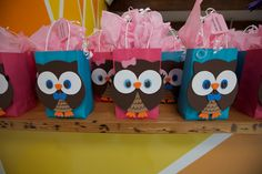 Owl Themed Party Bags