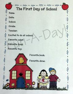 FREE printable -- First Day of School Interview