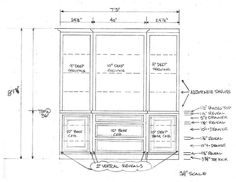 Simple built-in design for entertainment center for Andrew Brooks in Montrose (Houston, TX)  (drawing by Tony Tripoli / Custom Cabinets Houston)