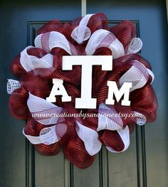 Texas A Aggie Mesh Wreath - Aggie Wreath