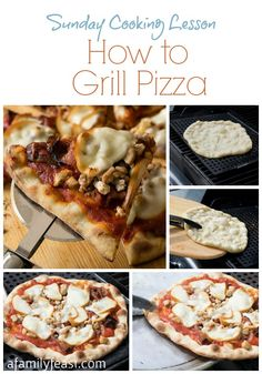 How to Grill Pizza (It's easy!) plus a delicious recipe for a Grilled Pizza with Chicken, Bacon and Smoked Mozzarella