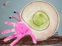 Hand print Hermit Crab craft. #kidscraft #preschool #animalcraft