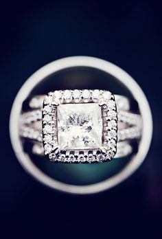 Amazing, amazing square cut engagement ring {Photo by Falcusan Photography via Project Wedding}