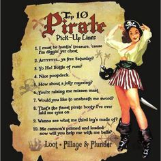 pirate pick up lines