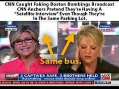 "CNN Caught Faking Boston Bombings Broadcast  ""Satellite Interview"""