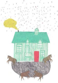 Horse and house. Amyisla Mccombie.