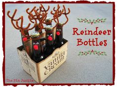 Reindeer Bottles - so cute!