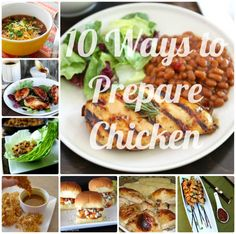 A great resource for quick and easy chicken dinner recipes - Chicken! {10 Ways} chicken dinners, chicken recipes, easi chicken, chicken dishes, food, dinner ideas, chicken dinner recipes, cooking tips, recipe chicken