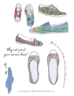 Example from my workbook! Paint your canvas shoes with Chalk Paint!