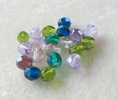 Czech Fire Polish Round Glass Beads by CatsBeadKitsandMore on Etsy, $3.81