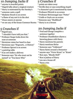 Harry Potter workout!!