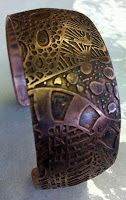 DEBORAHREAD.COM: Step by Step: Making a Copper Etched Cuff Bracelet