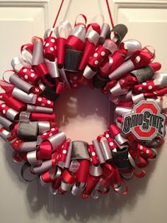 Ohio State Ribbon Wreath! OSU Buckeyes