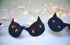 DIY cat lights for #halloween