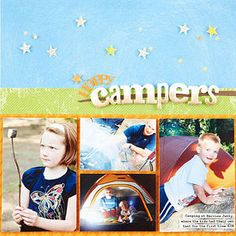 Happy Campers Scrapbook Page