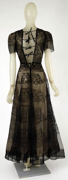 Vionnet Dinner Dress - back - 1937 - by Madeleine Vionnet  (French, 1876-1975) - Silk - The Metropolitan Museum of Art - @~ Mlle