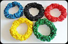 Ashli's Cookie Creations: Edible Olympic Rings:)