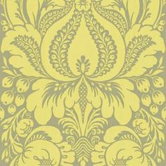 The Wallpaper Company 8 in. x 10 in. Lime Large Scale Damask Wallpaper Sample-WC1280608S at The Home Depot