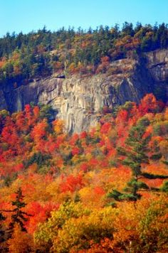 White Mountains, NH in fall.